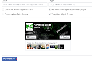AhmadBj Blogs | Fanspage Facebook pada blog