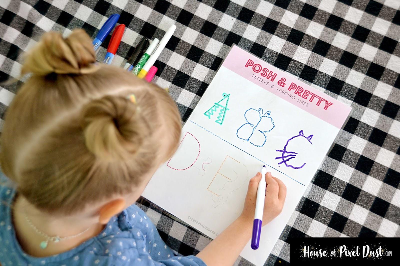 POSH & PRETTY Learning Letters & Tracing (Pre-school ABC's