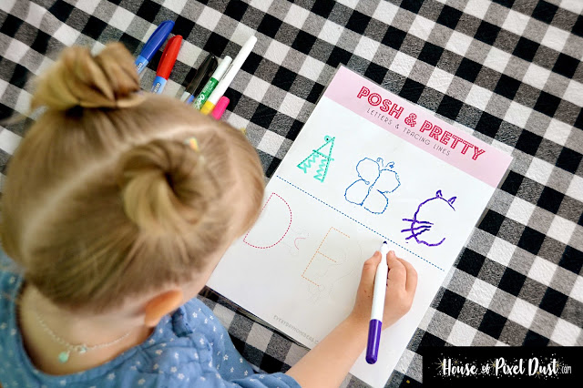 POSH & PRETTY Learning Letters & Tracing (Pre-school ABC's