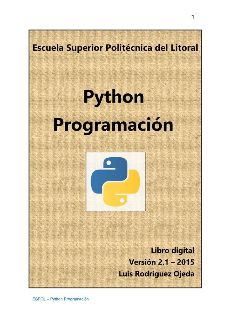 Python programación – Luis Rodríguez Ojeda
