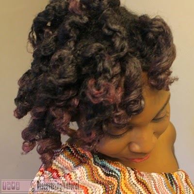 Colored Natural Hair Flexirods