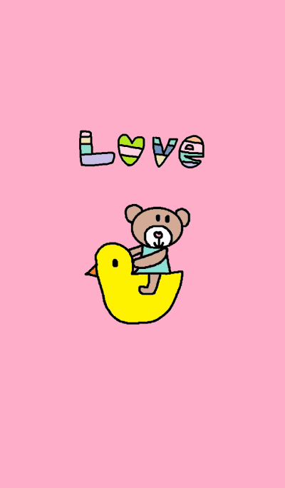 Lilo and duck(pink)