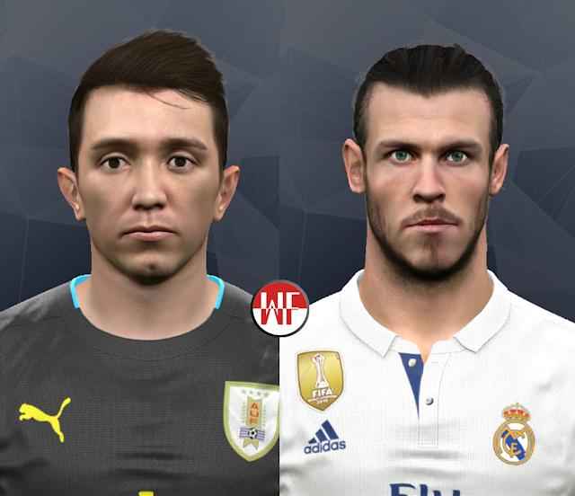 PES 2017 Fernando Muslera & Gareth Bale Face by WER Facemaker