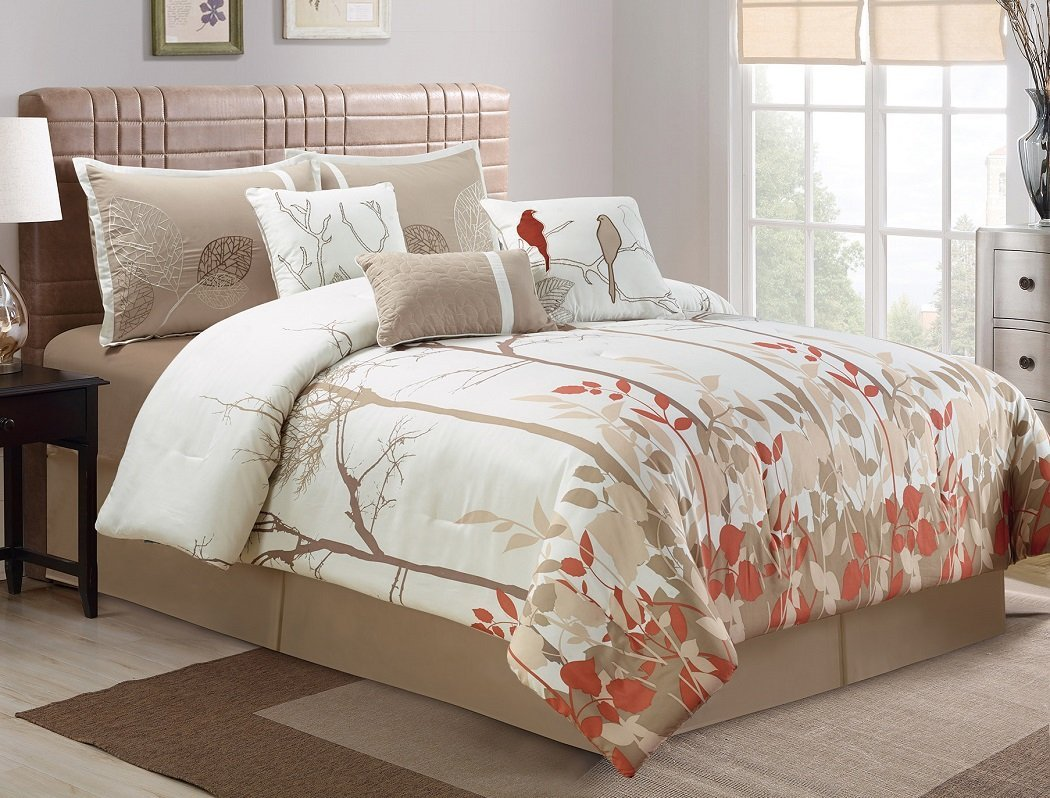 Bedding with birds on it for Birdcage bedroom ideas