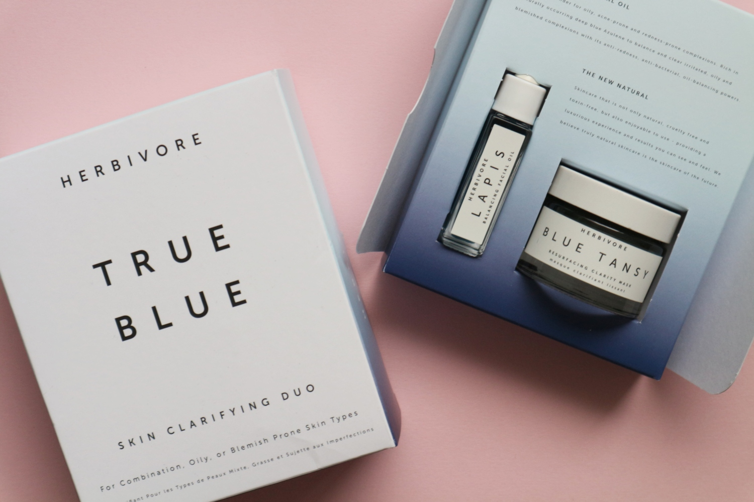 herbivore true blue skin clarifying duo review