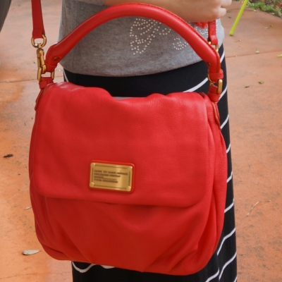 Away From Blue Marc by Marc Jacobs Lil Ukita Red rock lobster bag