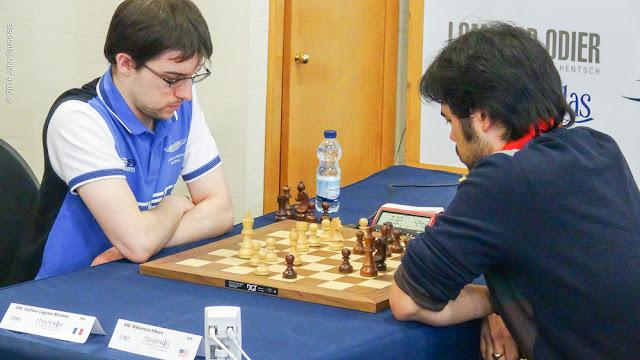 Maxime Vachier-Lagrave y Hikaru Nakamura (Foto: John Saunders)