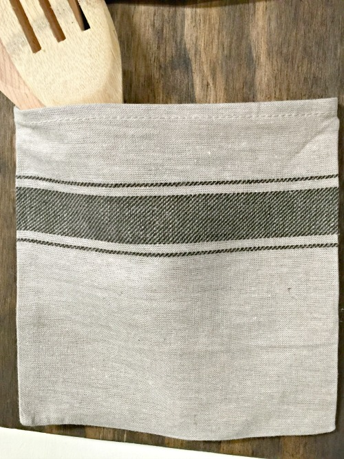 Grain Sack Bag with wooden spoon