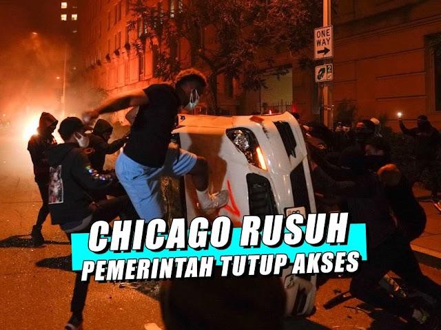 Kerusuhan Kembali Terjadi, Pemerintah Mengisolasi Akses Masuk dan Keluar ke Chicago