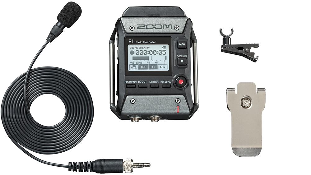Zoom F1 - комплектация с петличным микрофоном