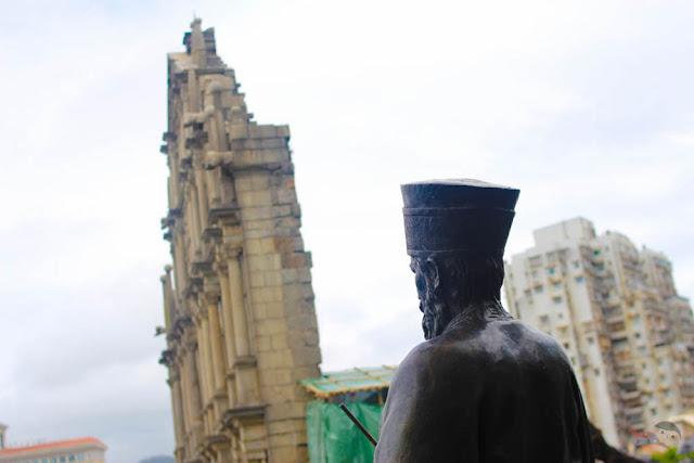 St. Paul Statue in Monte Fort, Macau