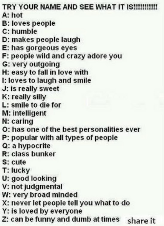 Funny things to call people