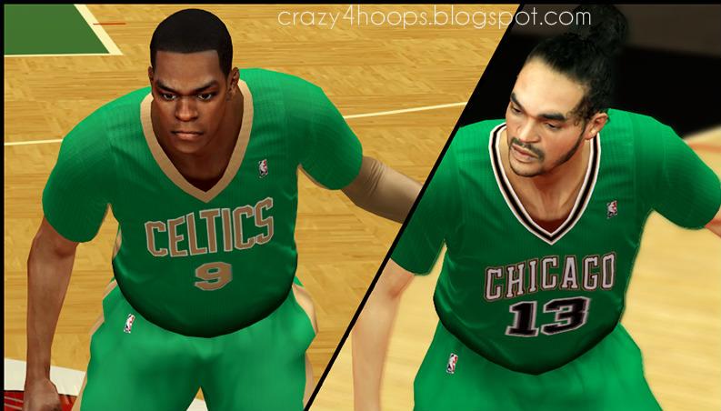 Saint Patrick's Day green jerseys in NBA 2K14