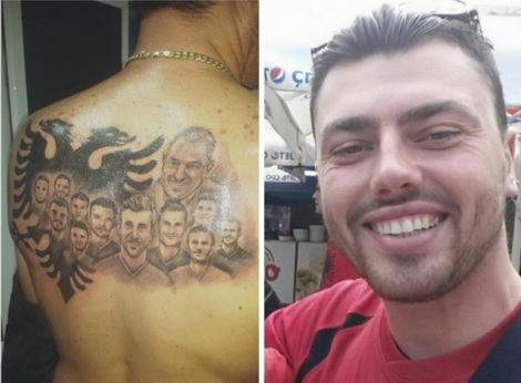 Gian Tattoo on his back after National Team success