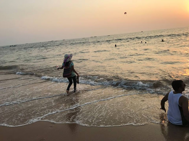 Image / Picture / Photo of the Sunset at Anjuna Beach Goa