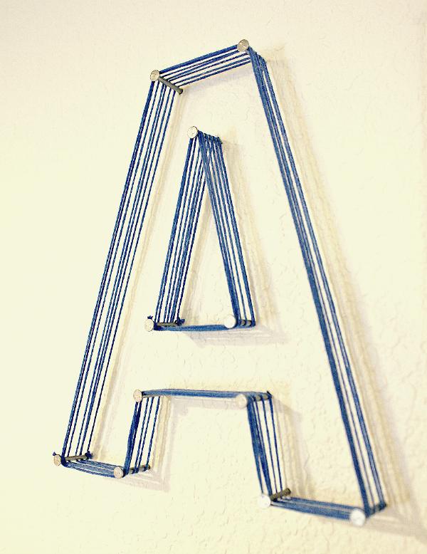 DIY String Letters- JKJK