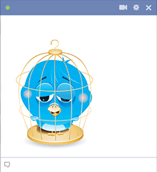 Bird in cage sticker