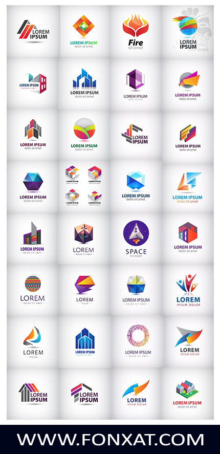 Download vector illustrations of various business logo