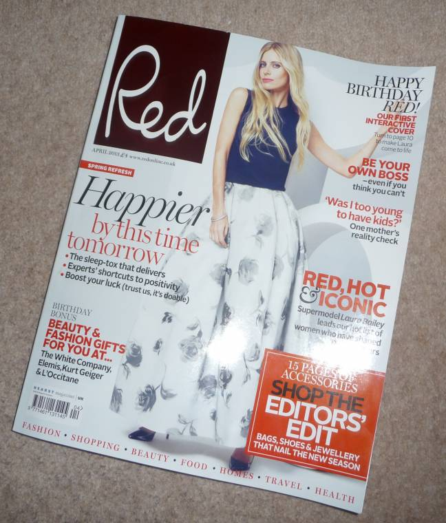 Red Magazine 15th Birthday Edition, My Feature