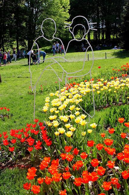 Японские мотивы на выставке тюльпанов