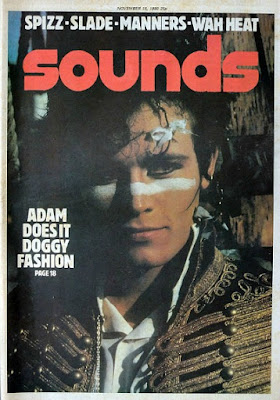 Sounds magazine Nov 15th 1980 Adam Ant