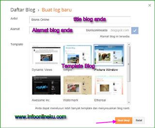 pilih nama blog