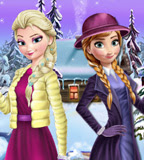 Divirta-se com o jogo da Frozen - Elsa e Anna Winter Dress Up