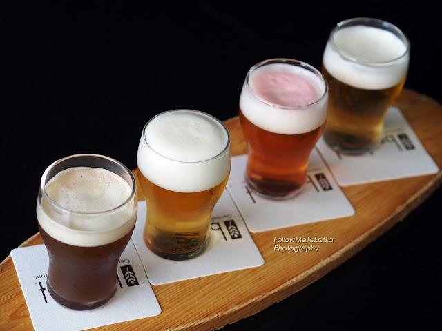 Signature Brotzeit Beer Sampler  RM 40 Apflebier, Churchill, Benzin, Scharwer )