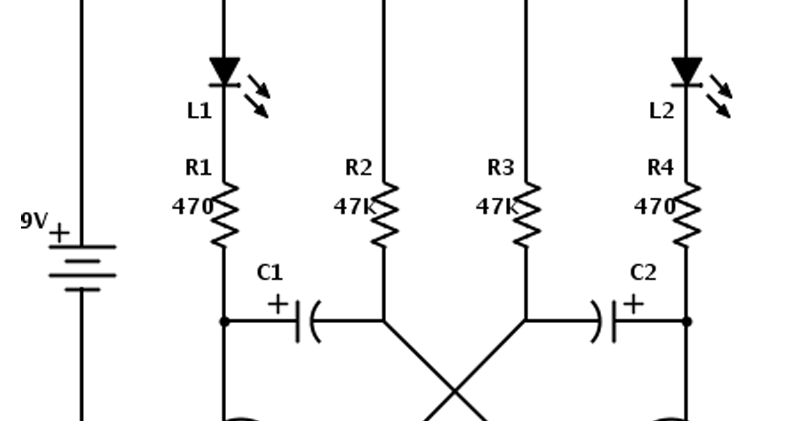 the astable or running multivibrator circuit