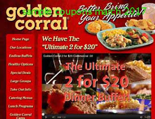 Golden Corral coupons march