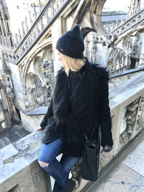 Milano, Duomo - Milán, na střeše Duomo