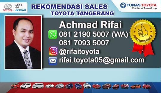 Rekomendasi Sales Dealer Tunas Toyota Tangerang