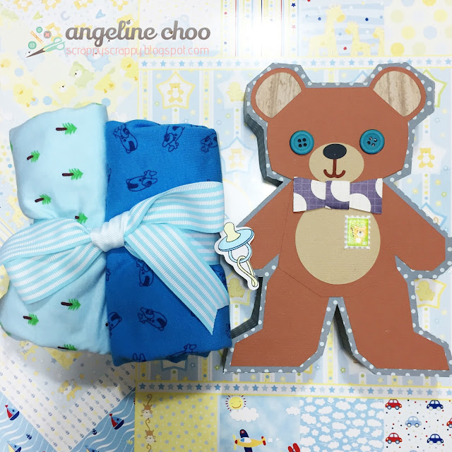 ScrappyScrappy: Beary Sweet Baby Gift Box #scrappyscrappy #svgattic #svg #cutfile #giftbox #teddybear #baby