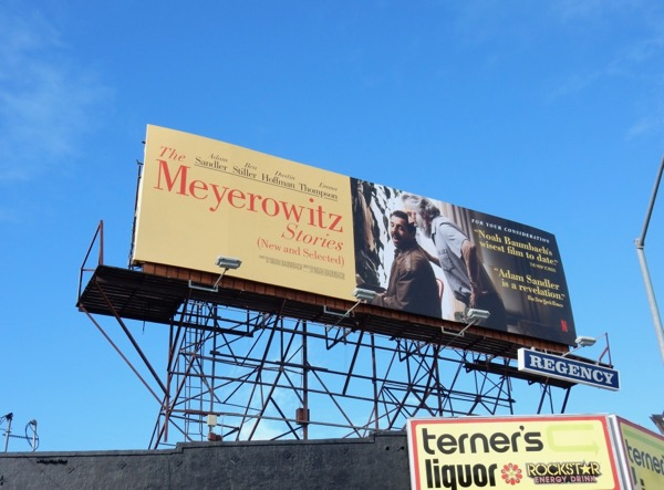 Meyerowitz Stories FYC billboard