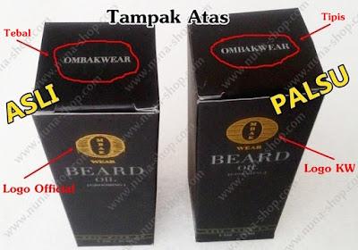 Perbedaan Tulisan Ombak Beard Oil Asli dan Palsu