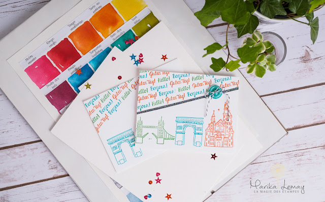 cartes en décor avec le jeu Chase your dreams Stampin up