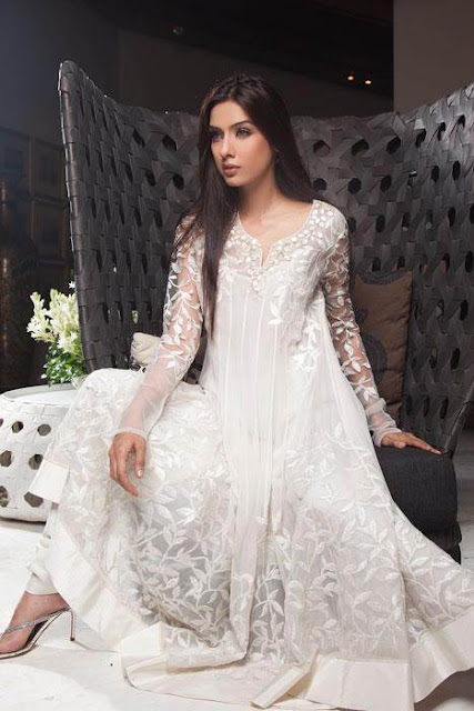 White Pakistani Bridal Wedding Dresses