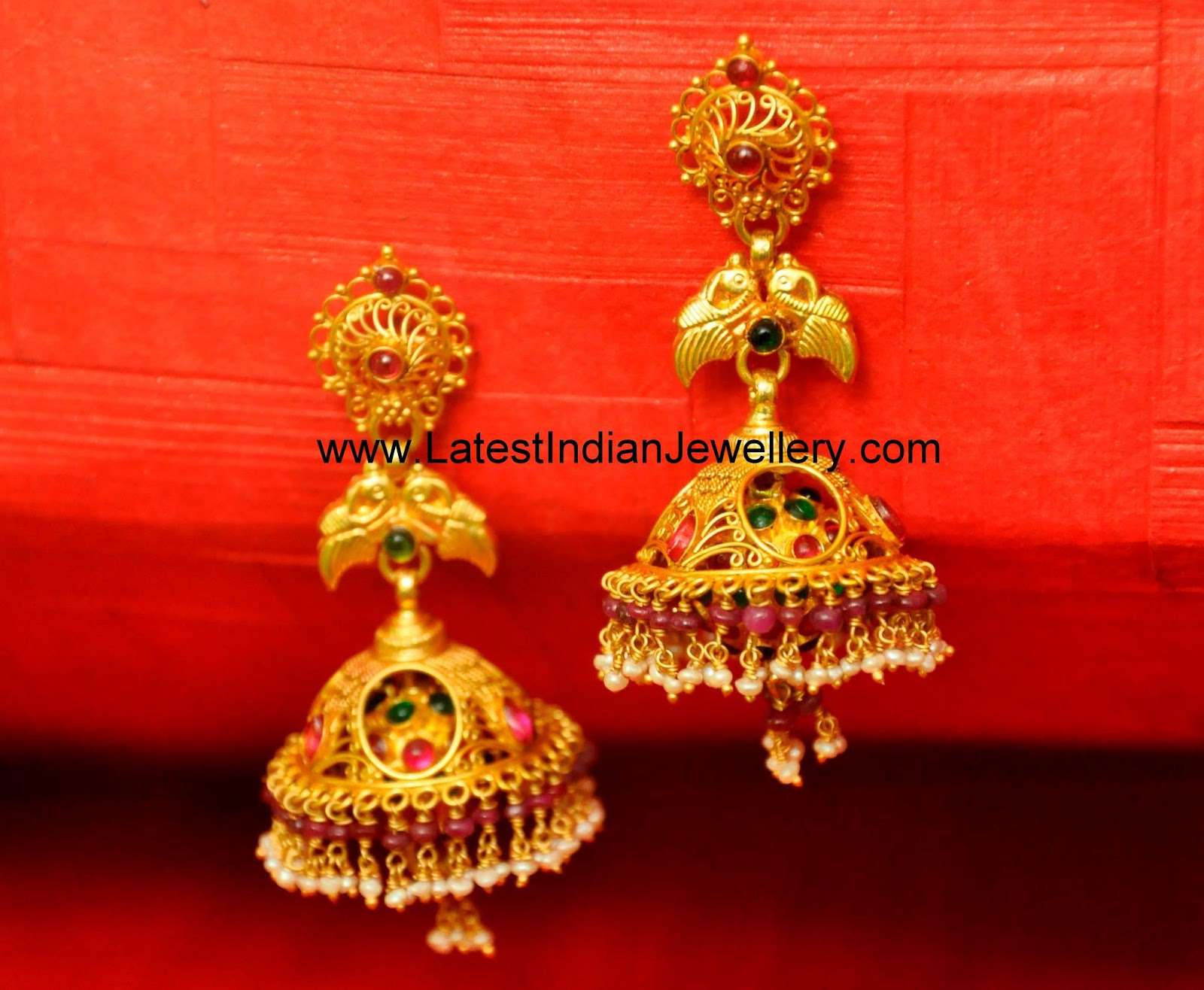Latest Traditional Gold Jhumka Designs Collection Latest