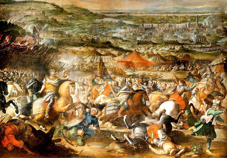 Os janízaros derrotados nas portas de Viena, Martino Altomonte, (1657 – 1745)