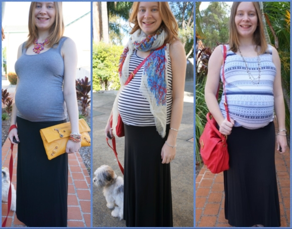 AwayFromBlue: 3rd Trimester Black Maxi Skirt outfits