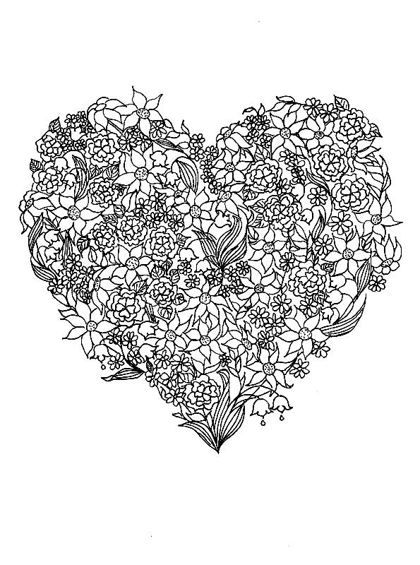 Valentinstag Schwer Ausmalbilder Mandala Free Mandala