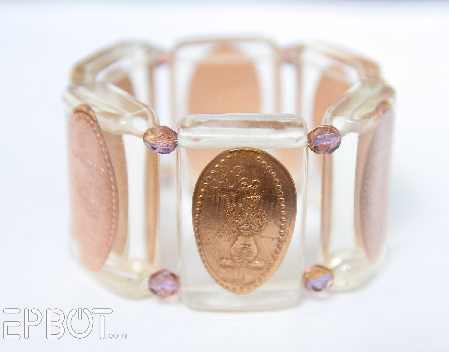Epbot Smashed Penny Bracelet In Resin