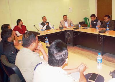 Gautam deb attends meeting for totos in Siliguri