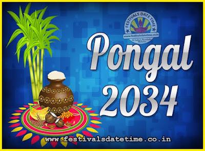 2034 Pongal Festival Date & Time, 2034 Thai Pongal Calendar