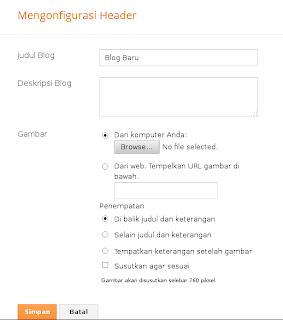 Cara Mengatur Tata letak Blogger