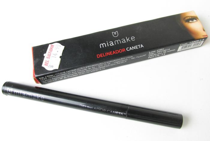 Caneta Delineadora Preta Mia Make, Mia Make - Delineador Caneta Preto, Mia Make, Delineador Caneta Preto, caneta delineadora