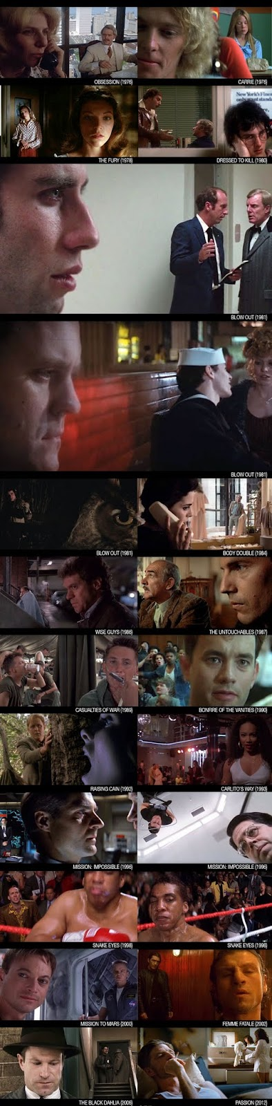 Brian De Palma - Deep Focus Split Focus Diopter Shots