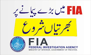 FIA New Jobs Federal Investigation Agency Pakistan