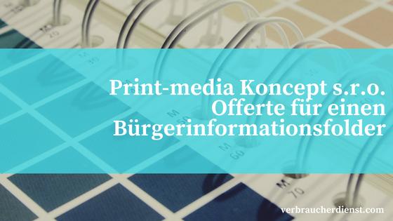 """Titel: Print-media Koncept s.r.o. - Offerte für einen """"Bürgerinformationsfolder"""""""