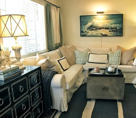 nautical vintage wall art idea for the space above the sofa